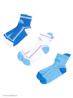 Носки - 3 пары Гамма. Цвет: белый, синий