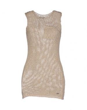 Короткое платье B.YU. Цвет: золотистый