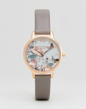 Olivia Burton Часы цвета розового золота OB16EG67 Enchanted Garden Lon. Цвет: серый