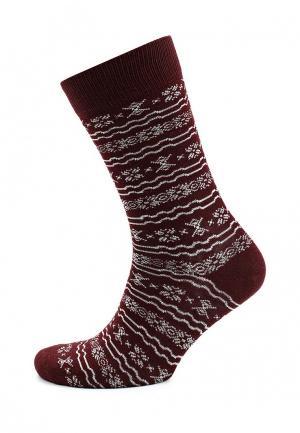 Носки Topman. Цвет: бордовый