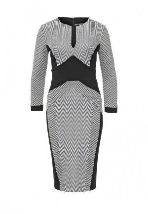 Платье Borodulins Borodulin's. Цвет: черно-белый