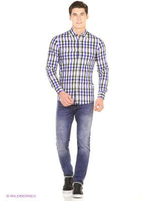 Рубашка Reserved. Цвет: зеленый, фиолетовый