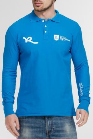 Рубашка-поло Rocawear. Цвет: голубой