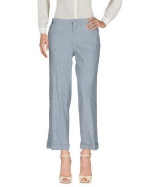 Повседневные брюки ZHELDA. Цвет: небесно-голубой
