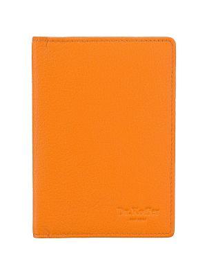 Обложка для паспорта Dr. Koffer. Цвет: оранжевый
