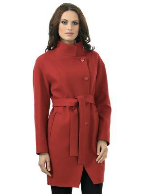 Пальто шерстяное AVALON. Цвет: красный