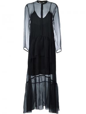 Платье в горошек Petar Petrov. Цвет: синий