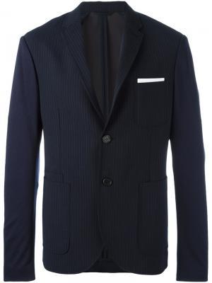 Пиджак в тонкую полоску Neil Barrett. Цвет: синий