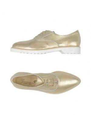 Обувь на шнурках GIORDANA F.. Цвет: платиновый