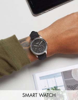 Timex Смарт-часы с черным кожаным ремешком IQ. Цвет: черный