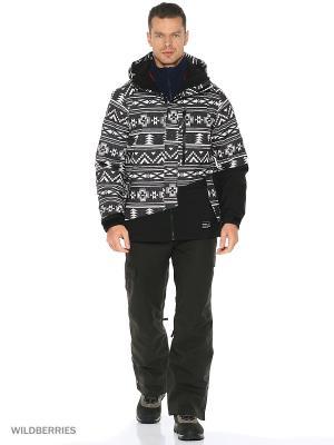 Куртка O'Neill. Цвет: черный, молочный