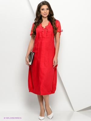Платье КАЛIНКА. Цвет: красный
