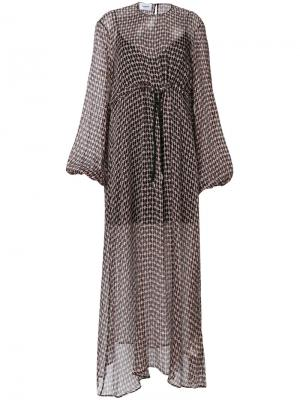 Платье с принтом сердца Dondup. Цвет: чёрный