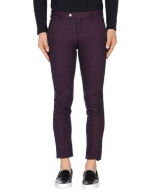 Повседневные брюки JOHN SHEEP. Цвет: пурпурный