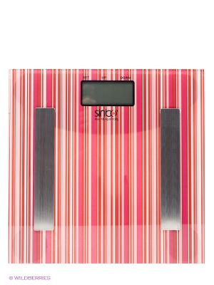 Весы напольные SBS 4432, 180 кг Sinbo. Цвет: розовый