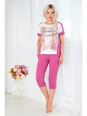 Домашний костюм Mia Cara. Цвет: лиловый, фуксия, розовый