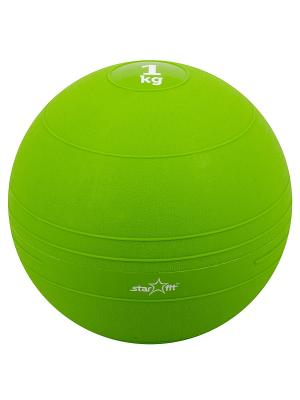 Медбол STAR FIT GB-701, 1 кг, зеленый starfit. Цвет: зеленый