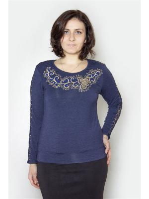 Кофточка Vanrica Fashion. Цвет: темно-синий