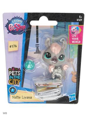 Игрушка Зверюшка Littlest Pet Shop. Цвет: розовый, бирюзовый, лиловый, серый