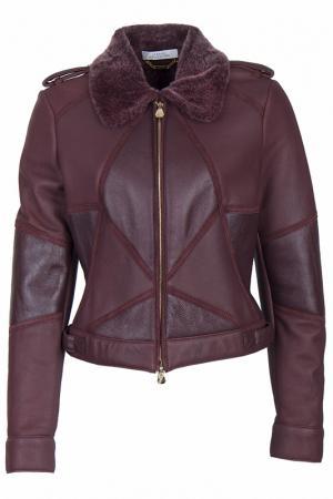 Дубленка Versace Collection. Цвет: бордовый