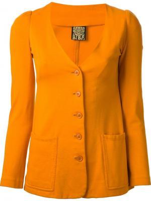 Короткий костюм из четырёх частей Biba Vintage. Цвет: жёлтый и оранжевый