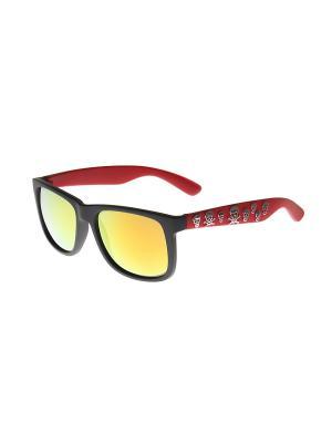 Солнцезащитные очки Gusachi. Цвет: черный, красный, оранжевый, серебристый
