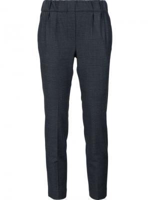 Укороченные брюки прямого кроя Brunello Cucinelli. Цвет: серый