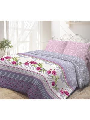 Комплект постельного белья, Виктория Волшебная ночь. Цвет: сиреневый, розовый