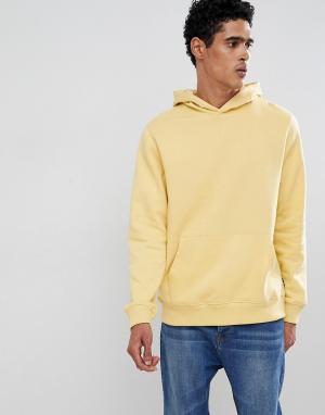 Burton Menswear Худи желтого цвета с карманом. Цвет: желтый