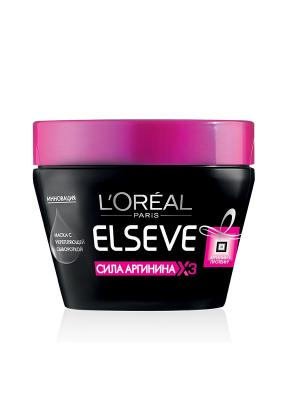 Маска для волос Elseve, сила Аргинина х3 L'Oreal Paris. Цвет: черный