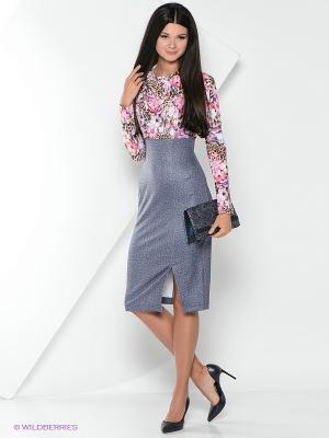 Платье Xarizmas. Цвет: серый, розовый, голубой
