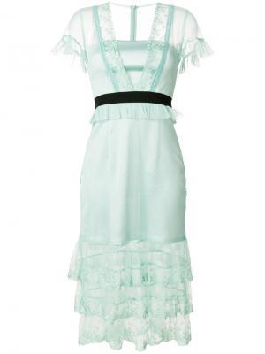 Платье Summer Effect Three Floor. Цвет: зелёный