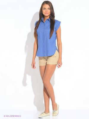 Блузка TIMBERLAND. Цвет: синий