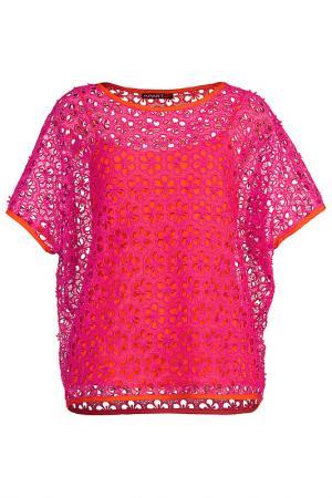 Блузка Apart. Цвет: розовый, оранжево-красный
