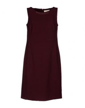 Короткое платье CORTE dei GONZAGA. Цвет: красно-коричневый