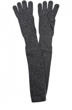 Удлиненные перчатки из кашемира Kashja` Cashmere. Цвет: темно-серый