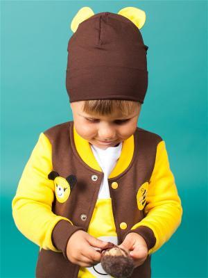 Шапочка с ушками Винни Yuumi. Цвет: коричневый