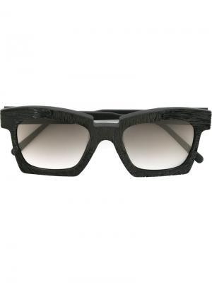 Солнцезащитные очки Mask EK5 Kuboraum. Цвет: чёрный