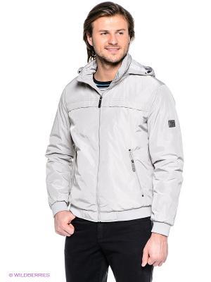 Куртка Finn Flare. Цвет: светло-серый