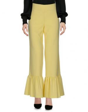 Повседневные брюки HUITDEGRÉS. Цвет: желтый