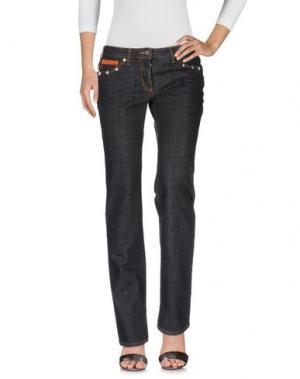 Джинсовые брюки PIERO GUIDI. Цвет: черный