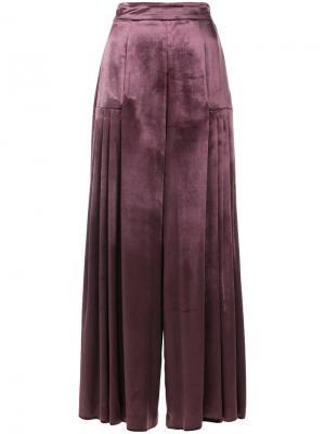 Широкие брюки Temperley London. Цвет: розовый и фиолетовый