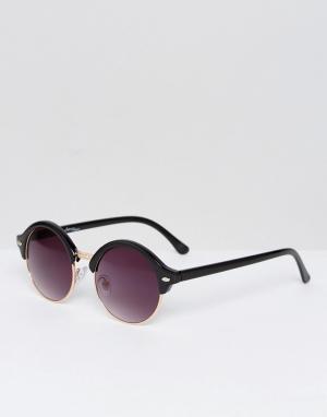Jeepers Peepers Черные круглые солнцезащитные очки Jeeper. Цвет: черный