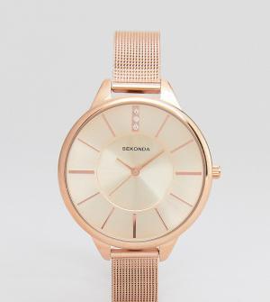 Sekonda Розово-золотистые часы с сетчатым браслетом эксклюзивно для AS. Цвет: золотой