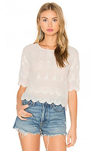 Блуза с коротким рукавом Hoss Intropia. Цвет: белый