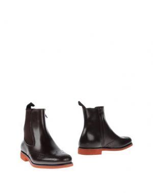 Полусапоги и высокие ботинки BORGIOLI. Цвет: темно-коричневый