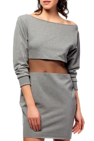 Платье BeWear. Цвет: серый