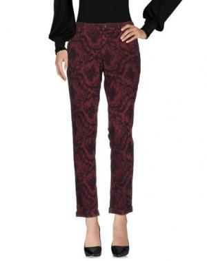Повседневные брюки RE-HASH. Цвет: красно-коричневый