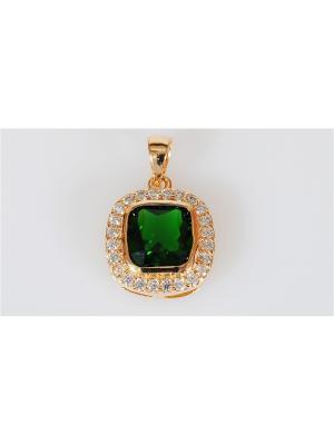 Кулон фианит зеленый Герцогиня Lotus Jewelry. Цвет: зеленый