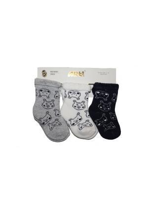Носки махровые, 3 шт. ARTI. Цвет: черный, серый, белый